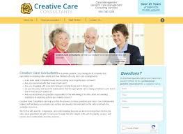 web design project completed for kansas city company creative care