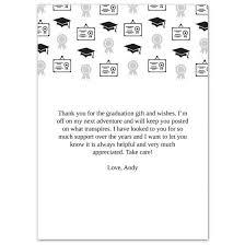 grad icons 5x7 graduation thank you card