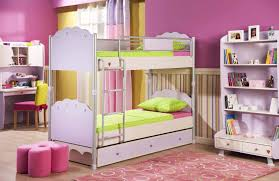 Kids Bedroom Furniture Sets For Girls Bedroom Charming White Brown Wood Cool Design Bunk Beds For Kids