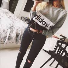 adidas crop top sweater multi color adidas letter and logo from