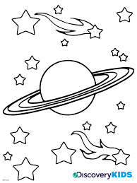 Saturn Coloring Page Discovery Kids Coloring Page Of