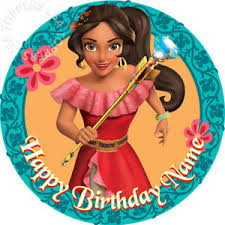 edible elena of avalor cake topper birthday princess wafer paper