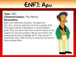 myers briggs which simpsons character are you unique