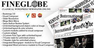 fineglobe classic newspaper theme by republikwp themeforest