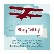 airplane birthday invitation invitations u0026 cards on pingg com