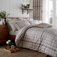 Dunelm Mill Duvet Covers Check Natural Bed Linen Collection Dunelm