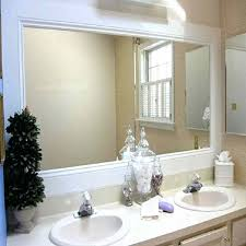Mirror Trim For Bathroom Mirrors Bathroom Mirror Trim White Framed Trim Bathroom Mirror Ideas