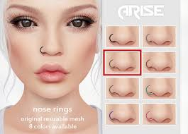 nose jewelry rings images Second life marketplace arise nose ring gold jpg