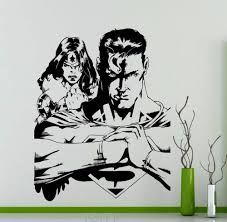 compare prices on marvel wall decals online shopping buy low superhero man and wonder woman wall decal dc marvel comics vinyl sticker home teen boy room