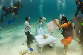 underwater wedding underwater weddings and more activities for groups in cancun