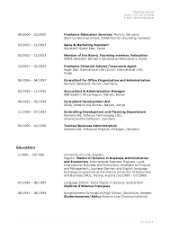 Resume In English Examples by Cv Martinaschult Sept 2015