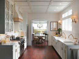Kitchen Neutral Colors - keep color scheme neutral in galley kitchens
