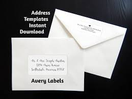 printable address template for envelope labels avery 2 x 4 u0026 1 x