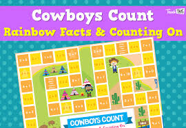 cowboys count rainbow facts u0026 counting on fun printable
