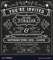 wedding chalkboard wedding chalkboard invitation elements royalty free vector
