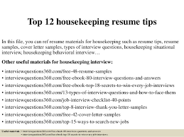 Resume Templates For Housekeeping Top 12 Housekeeping Resume Tips 1 638 Jpg Cb 1428178214