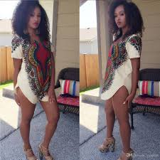 new fashion 2016 summer women print dashiki dresses long shirt