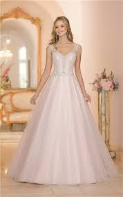 Pink Wedding Dresses With Sleeves Gown Cap Sleeve Blush Pink Tulle Embroidery Beaded Wedding Dress