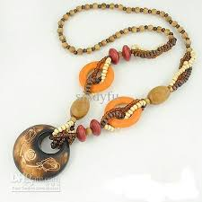 long wood bead necklace images Wholesale long necklace fashion jewelry bohemian wooden beads jpg