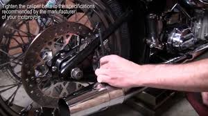 how to remove install and change a rear tire on a softail