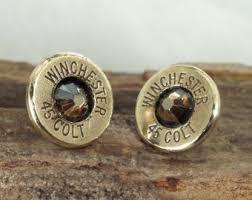 bullet stud earrings bullet earrings stud earrings ultra thin winchester