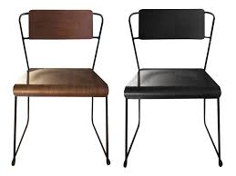 Stackable Dining Room Chairs Dining Room Dining Chairs Idea With Brown And Black Iron