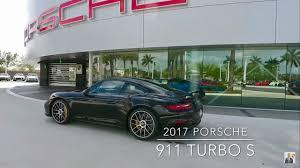 porsche black 2017 2017 black porsche 911 turbo s 580 hp porsche west broward youtube