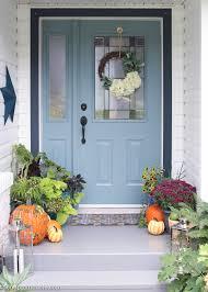 Front Porch Decor Ideas Easy U0026 Vibrant Fall Front Porch Decor The Happy Housie