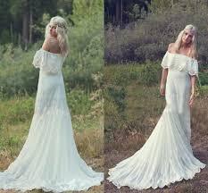 2015 bohemian spring a line cheap wedding dresses hippie lace