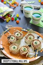 creepy roll up eyeballs recipe scary halloween parties and