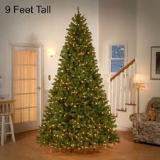 9 ft tree with led lights pre lit trees artificial the