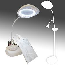 led magnifying floor lamp with clip arm and tray create in stitch