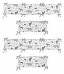 woodland animals collection crib bumper by sweet jojo designs only
