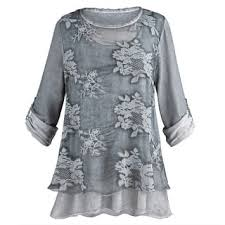 gray blouse tunic tops for less overstock com
