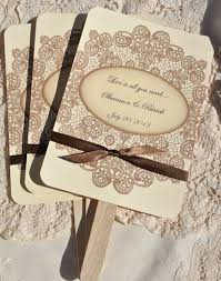 wedding fans favors personalized wedding favor fans vintage lace w ribbon by accent