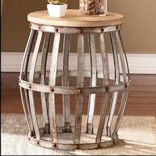 Rustic Side Tables Living Room Rustic Side Table Furniture Living Room Industrial Wood Metal Wine