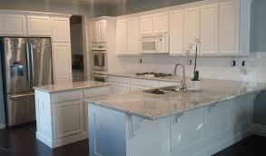 kitchen compelling kitchen white cabinets brown countertops