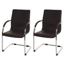 sedie pelle lotto di 2 sedie attesa zeus con telaio in metallo e rivestimento