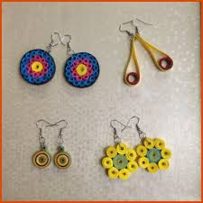 earrings simple quilling earrings simple and pretty 5 steps with pictures