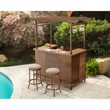 Hampton Bay Outdoor Table by Hampton Bay Decker 3 Piece Patio Pergola Bar Set L Dn1167sst At
