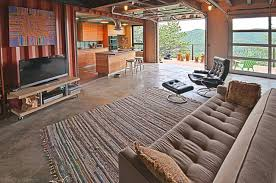sea container house design concrete floor material traditional