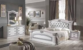 Bedroom Furniture Inverness Alex Classic Italian Bedroom Furniture Set White U0026 Silver