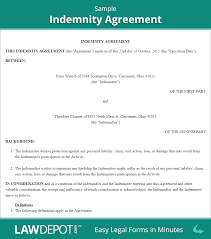 hold harmless agreement form free indemnity us rental template pa