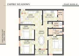 3 bhk house plan house plan for south facing plot with two bedrooms