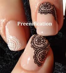black white lace water slide nail decals sticker transfer for