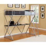 dorel twin metal loft bed over desk workstation silver walmart com