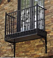 Wrought Iron Patio Doors by Winning Wrought Iron Balcony Railings Featuring Brown Stained