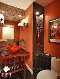 bathroom brown and orange accessories astralboutik