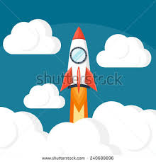 paper art startup project space concept stock vector 615790529