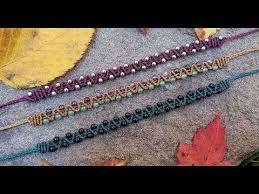 bracelet macrame patterns images Macrame tutorial easy beaded zig zag double half hitch bracelet jpg